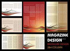 Mise en page magazine design — Image vectorielle miobra © #10820958