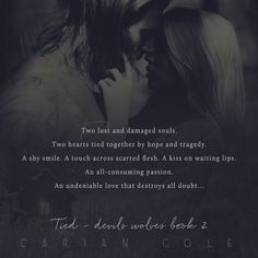 Cover Reveal – Tied by Carian Cole – Chasing Away Reality