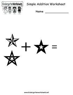 Addition Worksheets | Simple Addition Worksheet - Free Kindergarten Math Worksheet for Kids