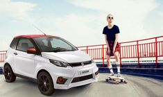 Cooles Sondermodell: der Aixam City Sport im rot/weißem Design. #mopedauto #fahrenab15 Vehicles, Design, Autos, Young Adults, Red, Design Comics, Vehicle