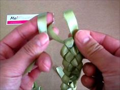 ▶ How to Make a Ribbon Wreath for Card Making using Sage Green Satin Ribbon - YouTube