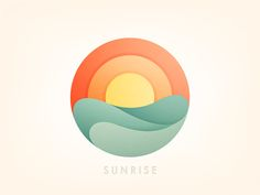 restaurant logo Restaurant Logos With A Sun Logo Restaurant, Logo Inspiration, Game Design, Icon Design, Sunrise Logo, Sunrise Tattoo, Sunrise Sunrise, Logo Branding, Branding Design