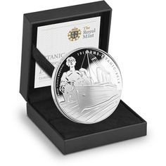 Titanic Anniversary 2012 Alderney Silver Proof Coin Depicts Titanic and the Memorial Statue Marks the anniversary of a maritime legend Rms Titanic, Rare Coins, Us Coins, Southampton, Gold And Silver Coins, Antique Coins, Silver Bullion, Commemorative Coins, Proof Coins
