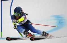 DAY 12:   Mikaela Shiffrin of the USA competes during the Alpine Skiing Women's Giant Slalom http://sports.yahoo.com/olympics