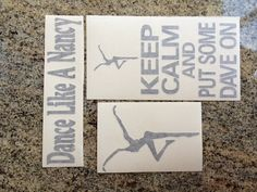 DMB Dave Matthews Band Decal Set of 3 Black stickers by nockonwood, $11.00