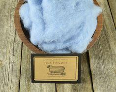Needle Felting Wool - Bleached Denim - Wet Felting Wool