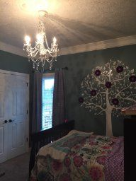 Teen Room Gypsy Color Crystal Chandelier - Small Crystal White
