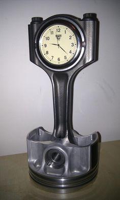 Piston clock. Father's Day gift perhaps?