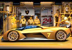 Futuristic Car, Spotrscar, Supercar, Lamborghini Le Mans Concept Rendering