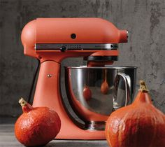 KitchenAid Artisan Food Mixer in Terracotta, features a 10 speed motor and comes with a mixing bowl & attachments. Kitchenaid Artisan, Kitchenaid Stand Mixer, Kitchen Aid Mixer, Kitchen Appliances, Stainless Steel Bowl, Artisan Food, Kitchen Colors, Kitchen Accessories, Terracotta