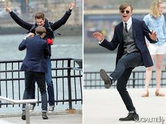 The Amazing Spiderman 2/ Dane DeHaan  Andrew Garfield having some fun.