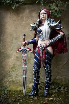 Blood elf death knight. World of Warcraft.