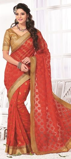Buy Now : Rs. 3,200 /- http://www.indianweddingsaree.com/product/180468.html Red and Maroon color family Bollywood sarees .
