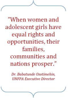 quotes about empowerment for girls   PROMOTING GENDER EQUALITY   UNFPA