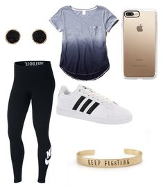 """jenny 's outfits"" by denisse-12345 on Polyvore featuring NIKE, adidas, Humble Chic and Casetify"