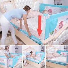 Baby Bed Fence Home Kids playpen Safety Gate Products child Care baby care playpen - Baby Care Safety Bed, Baby Safety, Child Safety, Grade Para Cama, Kids Playpen, Baby Life Hacks, Baby Gadgets, Crib Rail, Foto Baby