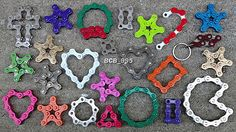 Bicycle Chain KEY RINGS - Keychains for Cyclist Bikers Racer Bikeshop Triathlete