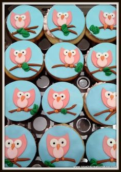 Owl Cupcake Toppers Gourmet Cupcakes - Cousin's Creations