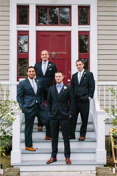 classy black and blue groomsmen ideas #groomlook #bridalparty #weddingchicks http://www.weddingchicks.com/2014/03/10/unique-and-earthy-wedding/