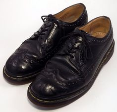 DOCTOR Dr. Doc MARTENS Men's Shoes ~ Black Leather Wing Tip Oxfords  ~ US 8 M #DrMartens #Oxfords