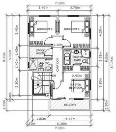 Modern 19 - House Designer and Builder Modern House Plans, House Floor Plans, Urban Architecture, House Architecture, Duplex Plans, Construction Contract, 2 Storey House, 4 Bedroom House Plans, Main Door Design