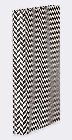 Ferm Living Ringbuch/Ordner aus Karton, schwarz/weiß, 25x31.5cm