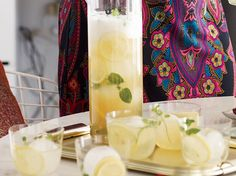 Ginger Shandies   These super-easy drinks are made with Hoegaarden, ginger beer, mint and lemon. More Pitcher Drinks Party Punches ...