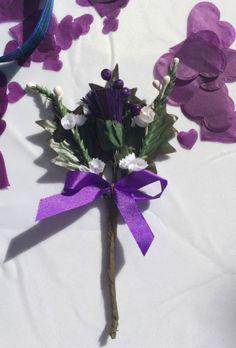 Scottish Thistle Purple Flowers Corsage Button Holes Wedding Heather   eBay Button Holes Wedding, Scottish Thistle, Flower Corsage, Different Flowers, Gothic Wedding, Wedding Themes, Purple Flowers, Wedding Buttonholes, Color Schemes