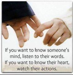 Actions speak