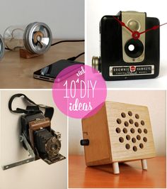 DIY: 10 Geeky Ideas, From Mason-Jar Speakers to Floppy-Disk Planters pinned by Noah