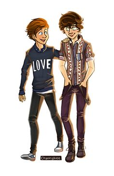 Larry Stylinson as fashion models!!! from channybee tumblr