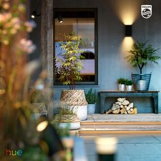Enhance your garden with the Philips Hue LED outdoor lighting range. Visit our website for the entire Philips Hue range of indoor and outdoor lighting fixtures and accessories. Outdoor Garden Lighting, Outdoor Light Fixtures, Porch Lighting, Lighting Ideas, Smart Lighting System, Colorful Garden, Hue, Backyard, Indoor