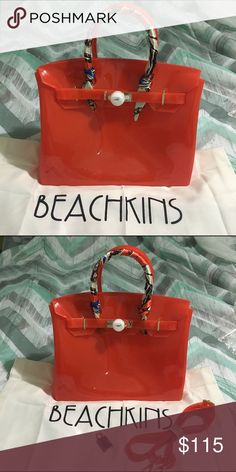 f07760df17 Beachkin Bag Orange beachkin bag. NWOT. Jelly   waterproof bag. Inclusion  ✓