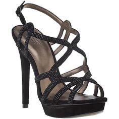 PELLE MODA Flirt Evening Sandal Black Suede ($195) ❤ liked on Polyvore featuring shoes, sandals, heels, black, black suede, black ankle strap sandals, ankle strap platform sandals, ankle strap sandals, black platform sandals and heeled sandals