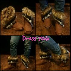 Faux Fur Ankle Boots Very nice comfortable Faux fur ankle boots with fur inside and out. Shoes Ankle Boots & Booties