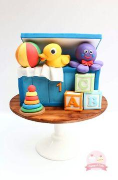 Toy Box Cake Art