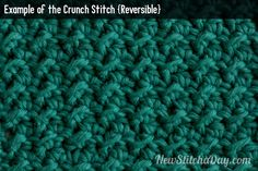 Example of the Crunch Stitch