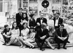 Frank Sinatra and Dean Martin families~ Christmas 1967