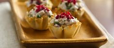 These pretty appetizers made with chicken, dried cranberries and walnuts will delight your guests, and they're healthy, too!