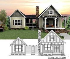 3 Bedroom Dog Trot House Plan - 92318MX   Cottage, Mountain, Vacation, Exclusive, Narrow Lot, Photo Gallery, 1st Floor Master Suite, CAD Available, Jack & Jill Bath, Loft, PDF, Split Bedrooms   Architectural Designs