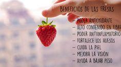 La temporada de las #fresas comienza en mayo y hemos querido destacar los principales #beneficios #alimentación
