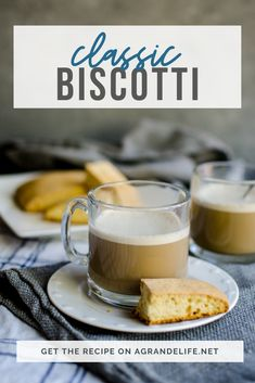 This classic biscotti recipe is simple with no frills. Pairs perfectly with a cappuccino! Delicious Cookie Recipes, Yummy Cookies, Pie Dessert, Dessert Recipes, Biscotti Recipe, Food Shows, How Sweet Eats, Popular Recipes, Slow Cooker Recipes