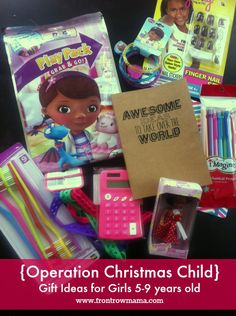 Operation Christmas Child gift ideas for Girls ages 5-9