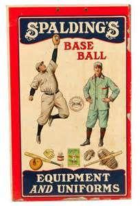 RARE CA. 1900 SPALDING BASEBALL ADVERTISING DISPLAY