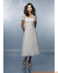 Spitze schulterfreier A-Linie Rock mit kurzem Brautkleid Kurze Brautkleider