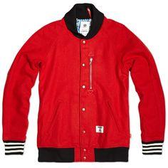 Adidas x Bedwin & The Heartbreakers Award Jacket (University Red)