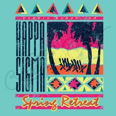 Sorority Social Kappa Sigma 90s Retro Tropical Beach South By Sea