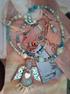 One of my angels. Pearl Necklace, Angels, Pearls, Bracelets, Jewelry, Design, String Of Pearls, Jewlery, Jewerly