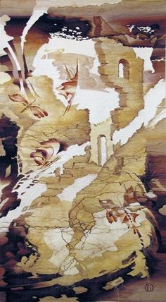 "Olga Popova Russian Tapestry WeaverОльга Попова ""Погружение"", 290х140,2003,  БГХМ"