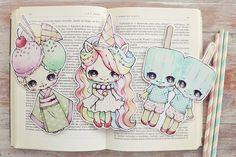 Le gang de crème glacée set de marque-pages sur commande